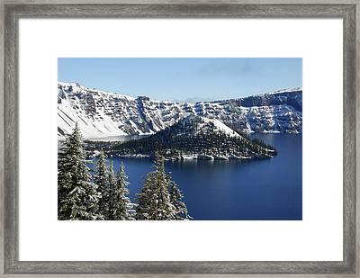 Crater Lake National Park, Oregon, Usa Framed Print by Michel Hersen