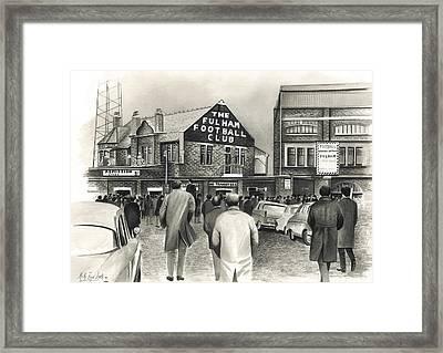 Craven Cottage - Fulham Framed Print by Kevin Fletcher