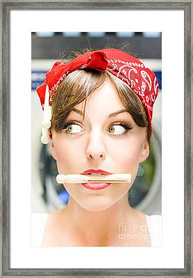 Crazy About House Work Framed Print by Jorgo Photography - Wall Art Gallery