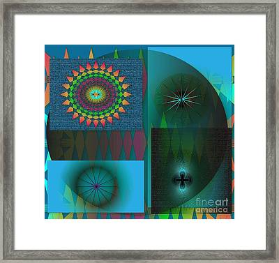 Framed Print featuring the digital art Crazy by Iris Gelbart