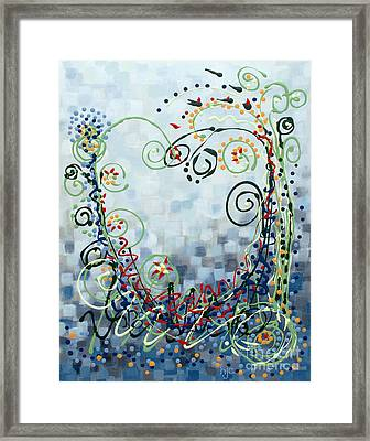 Crazy Love Jazz Framed Print by Holly Carmichael