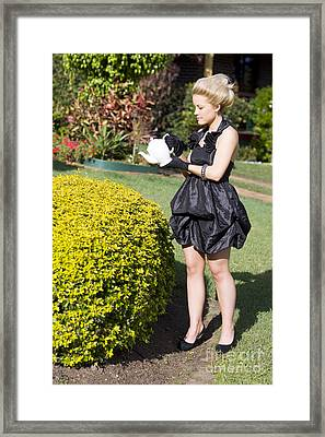 Crazy Rich Lady Framed Print