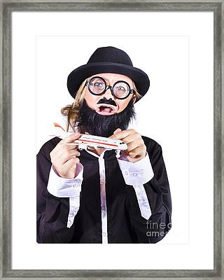 Crazy Terrorist Hijacking Passenger Jet Plane Framed Print by Jorgo Photography - Wall Art Gallery