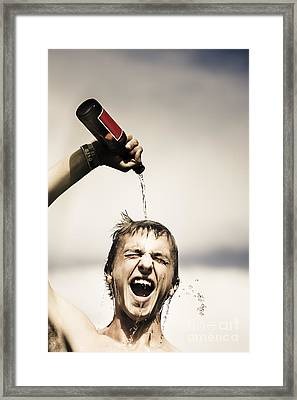 Crazy Young Irish Man Celebrating St Patricks Day  Framed Print by Jorgo Photography - Wall Art Gallery