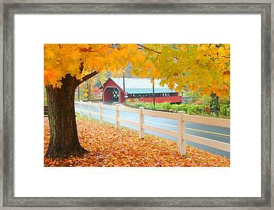 Creamery Bridge Framed Print by Paul Miller