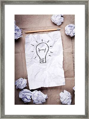 Creative Idea Concept Framed Print