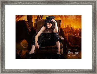 Creative Underground Fashion Photo Illustration Framed Print
