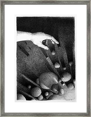 Framed Print featuring the drawing Creator  by Mariusz Zawadzki