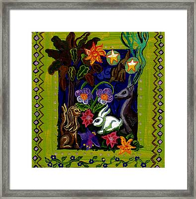 Creatures Of The Realm Framed Print by Genevieve Esson
