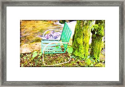 Resting At Creek Side Framed Print
