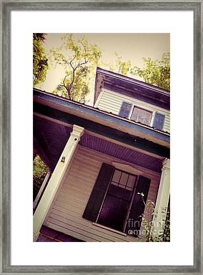 Creepy Old House Framed Print by Jill Battaglia