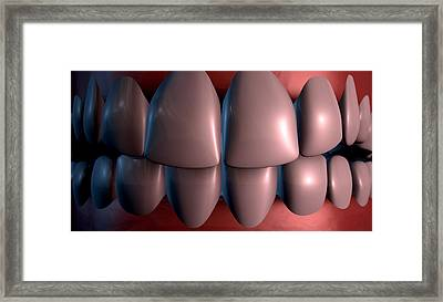 Creepy Teeth  Framed Print by Allan Swart