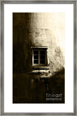 Creepy Windmill Window Framed Print by Jorgo Photography - Wall Art Gallery