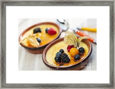 Creme Brulee Dessert Framed Print