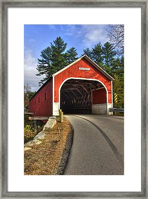 Cresson Covered Bridge Framed Print by Joann Vitali