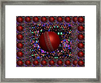 Cricket Game Play Player Balls Bowl Bowler Catch Red Century Drive Duck Team Australia West Indies E Framed Print