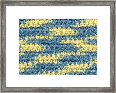 Crochet Made With Variegated Yarn Framed Print by Kerstin Ivarsson