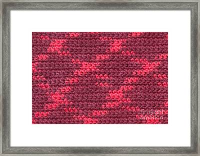 Crochet With Variegated Yarn Framed Print by Kerstin Ivarsson