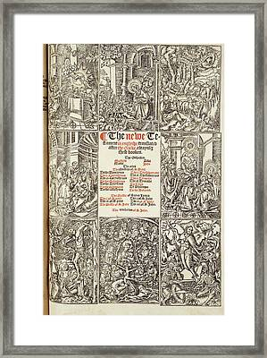 Cromwell's Bible Framed Print by British Library