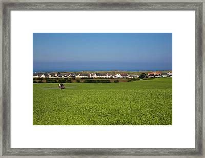 Crop Spraying Barley,near Ballintrae Framed Print by Panoramic Images