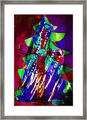 Cross Christmas Tree Framed Print