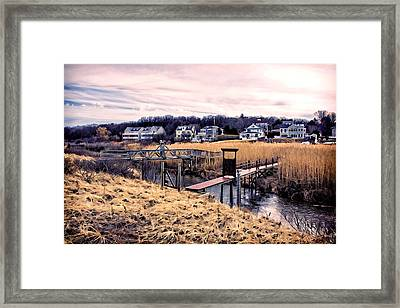 Crossing The Eel River  Framed Print