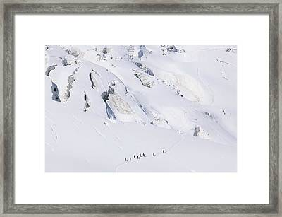 Crossing The Vallee Blanche Framed Print