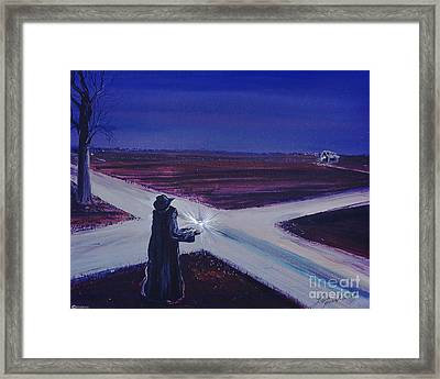 Crossroads Framed Print by Lizi Beard-Ward