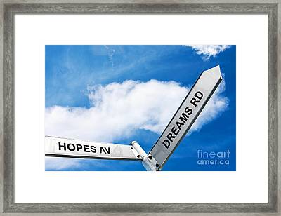 Crossroads Of Hopes And Dreams Framed Print