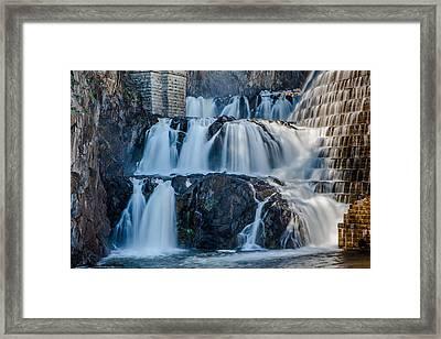 Croton Gorge Dam Framed Print by David Hahn