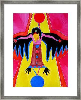 Crow Medicine Original Painting Sold Framed Print