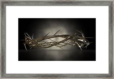 Crown Of Thorns Gold Casting Framed Print