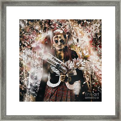 Crowned Horror Prom Queen Celebrating Dead Reunion Framed Print by Jorgo Photography - Wall Art Gallery