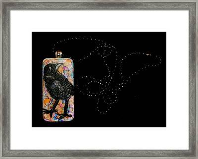 Crows Eye Framed Print