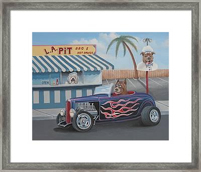 Cruizin' At Da L.a. Pit Framed Print by Stuart Swartz