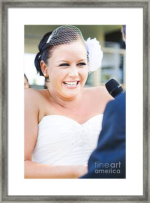 Crying And Laughing Bride Framed Print by Jorgo Photography - Wall Art Gallery