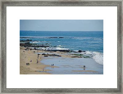 Framed Print featuring the photograph Crystal Cove Beach by Joseph Hollingsworth