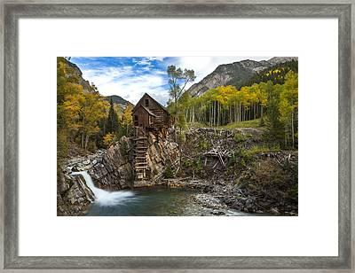 Crystal Mill  Framed Print by Tom Cuccio