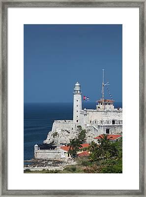 Cuba, Havana, Castillo De Los Tres Framed Print