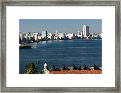 Cuba, Havana, Elevated View Framed Print by Walter Bibikow