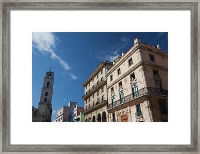 Cuba, Havana, Havana Vieja, Plaza De Framed Print by Walter Bibikow