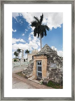 Cuba, Havana, Vedado, Necropolis Framed Print by Walter Bibikow