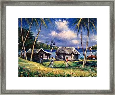 Cuban Fishing Village Framed Print