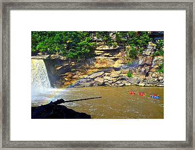 Cumberland Falls Rainbow Framed Print by Frozen in Time Fine Art Photography