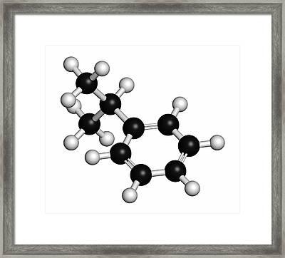Cumene Aromatic Hydrocarbon Molecule Framed Print by Molekuul
