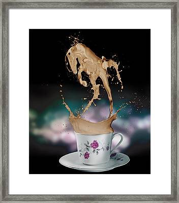 Cup Of Coffee Framed Print by Kate Black