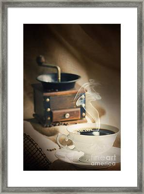 Cup Of Coffee Framed Print by Mythja  Photography