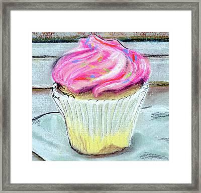 Cupcake Framed Print by Anne Seay