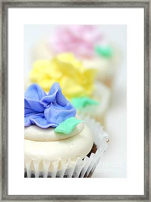 Cupcakes Shallow Depth Of Field Framed Print