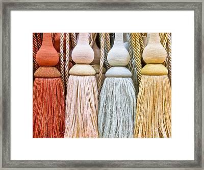 Curtain Ties Framed Print by Tom Gowanlock